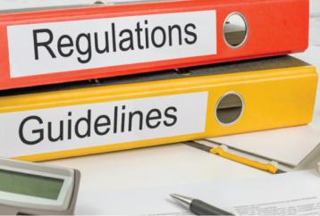 Folders with Regulations and Guidelines
